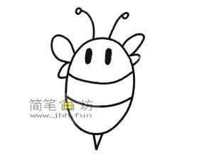 简单的步骤教你画蜜蜂的简笔画