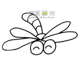 简单的步骤教你画蜻蜓的简笔画
