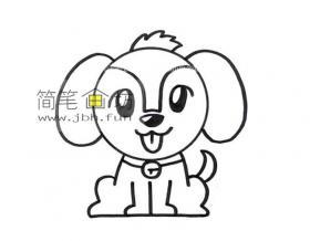 可爱的小狗的简笔画图片