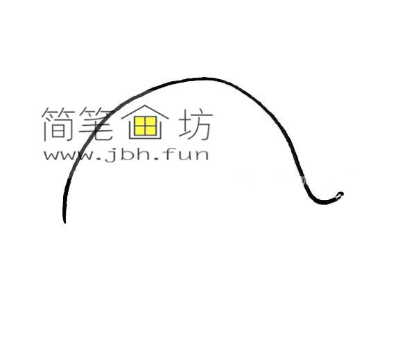 彩色可爱的鲸鱼的简笔画教程【彩色】(1)