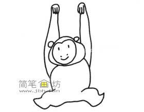 可爱的长臂猿的简笔画图片
