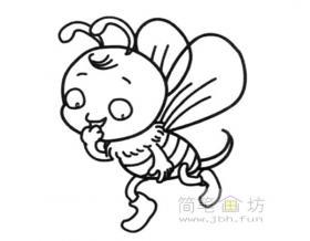 勤劳的小蜜蜂简笔画图片