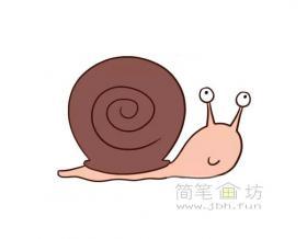 蜗牛简笔画图片【彩色】