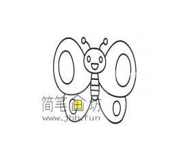 简单的步骤教你一步步的画蝴蝶的简笔画