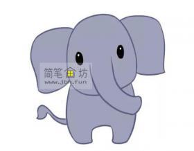 可爱的大象的简笔画怎么画