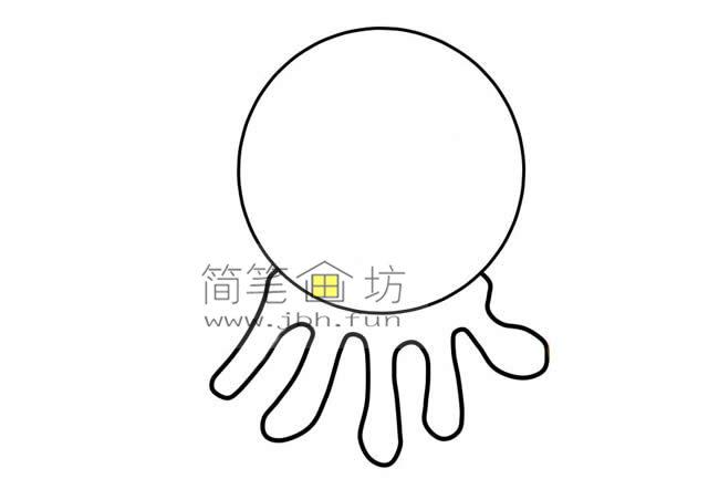 儿童画章鱼的简笔画画法教程