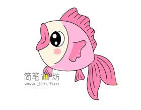 年年有鱼的简笔画素材【彩色】
