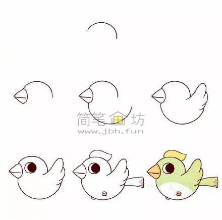 怎么画小鸟?8种可爱的小鸟简笔画画法教程(1)