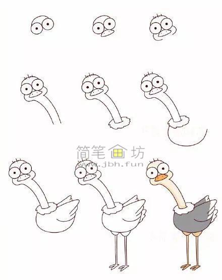 怎么画小鸟?8种可爱的小鸟简笔画画法教程(5)