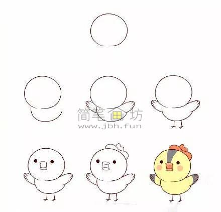 怎么画小鸟?8种可爱的小鸟简笔画画法教程(6)
