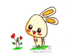 可爱的卡通小兔子简笔画教程