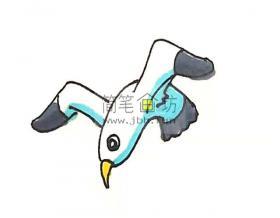 儿童学画海鸥的画法