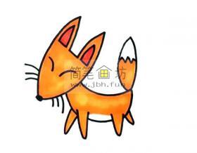 儿童学画画_小狐狸的画法