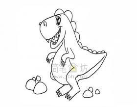 恐龙简笔画绘画步骤