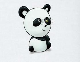 简单8步教你画国宝大熊猫简笔画【彩色】