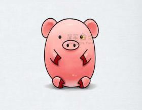 简单几招教你画呆萌小猪简笔画【彩色】