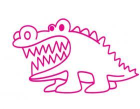 鳄鱼简笔画画法大全