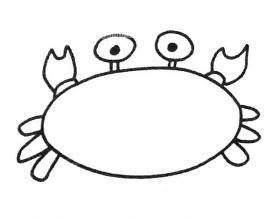 简单4步教你画螃蟹简笔画