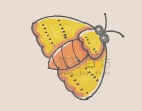 飞蛾简笔画画法教程及图片大全【彩色】