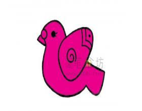 儿童简笔画:鸽子简笔画绘画步骤