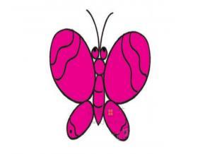 蝴蝶简笔画绘画步骤教程