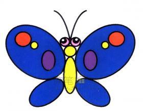 美丽的蝴蝶简笔画绘画步骤图解【彩色】