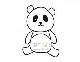 国宝大熊猫简笔画绘画步骤