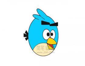 愤怒的小鸟简笔画画法【彩色】