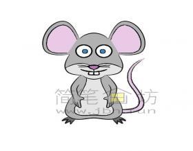 可爱的小老鼠简笔画画法【彩色】