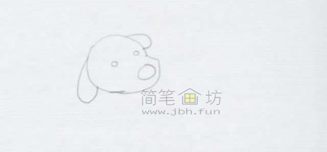 顽皮的小狗简笔画画法【彩色】(2)