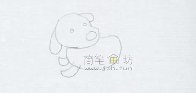 顽皮的小狗简笔画画法【彩色】(4)