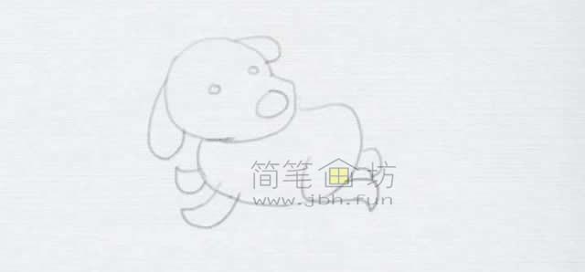 顽皮的小狗简笔画画法【彩色】(5)