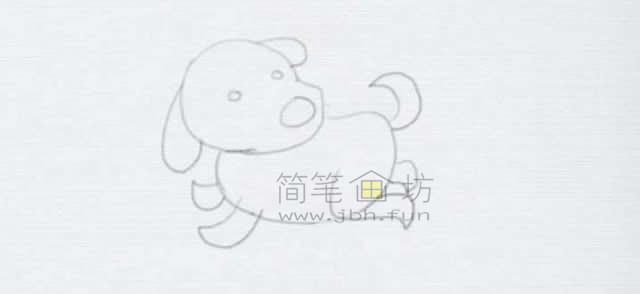 顽皮的小狗简笔画画法【彩色】(6)