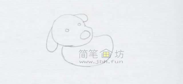 顽皮的小狗简笔画画法【彩色】(3)