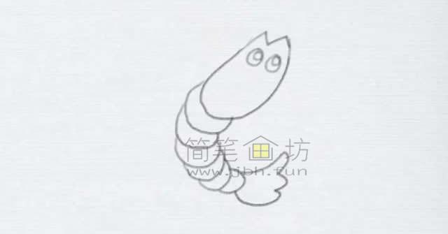美味的小龙虾简笔画绘画步骤【彩色】(4)