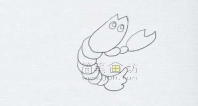 美味的小龙虾简笔画绘画步骤【彩色】(5)