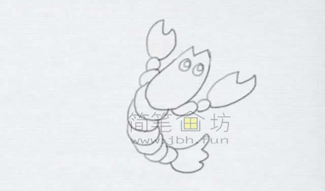 美味的小龙虾简笔画绘画步骤【彩色】(6)