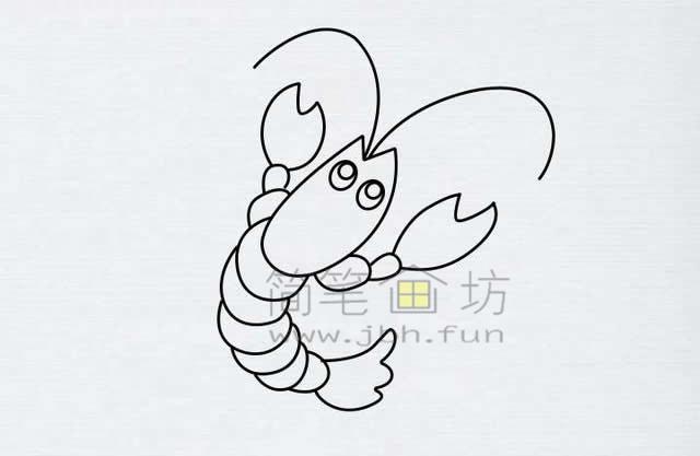 美味的小龙虾简笔画绘画步骤【彩色】(8)