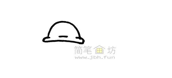 一起来学习画卡通蜗牛简笔画【彩色】(1)