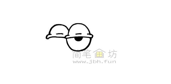 一起来学习画卡通蜗牛简笔画【彩色】(2)
