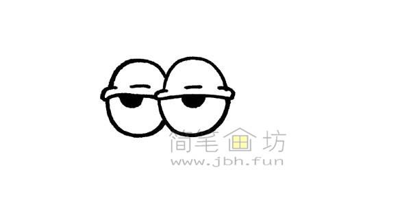 一起来学习画卡通蜗牛简笔画【彩色】(3)