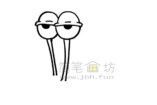 一起来学习画卡通蜗牛简笔画【彩色】(4)