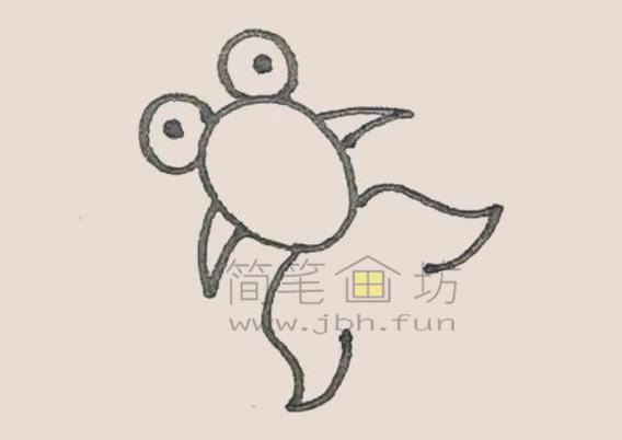 可爱的金鱼简笔画画法教程【彩色】(4)