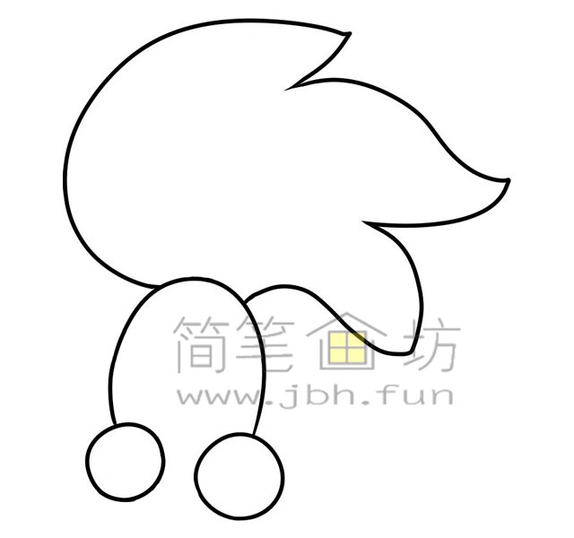 金鱼简笔画绘画步骤(2)