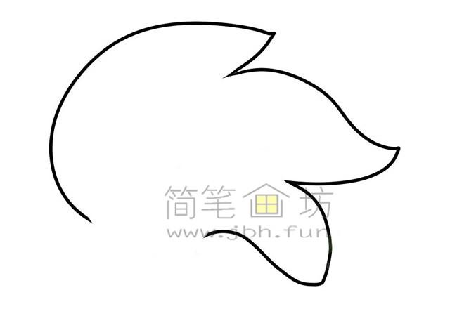 金鱼简笔画绘画步骤(1)