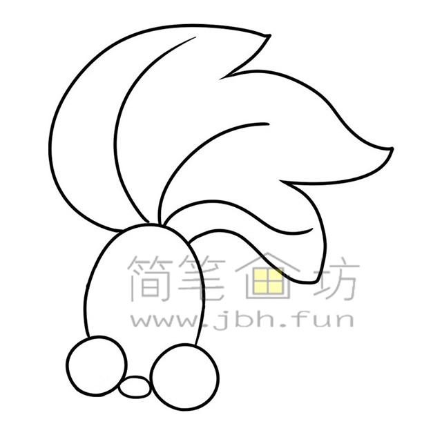 金鱼简笔画绘画步骤(3)