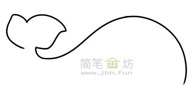 鲸鱼简笔画绘画步骤(1)