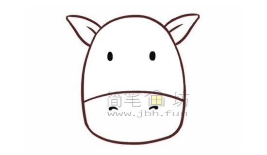 斑马简笔画绘画步骤【彩色】(2)