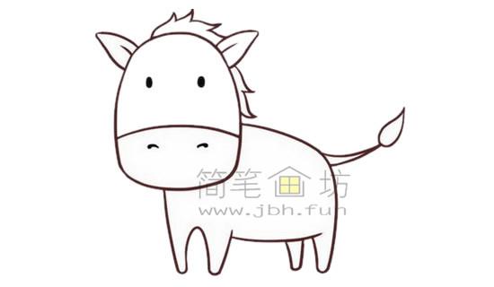 斑马简笔画绘画步骤【彩色】(4)