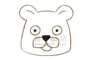 卡通豹子简笔画画法【彩色】(2)